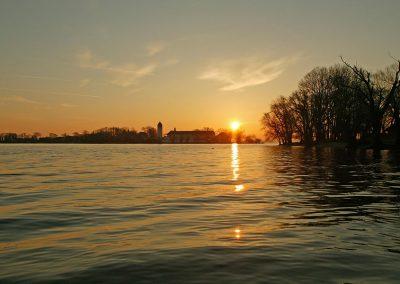 Chiemsee beim Sonnenuntergang