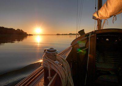 Bild von Sonnenuntergang aus einem Boot