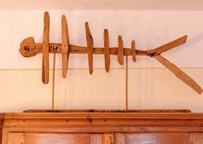 Holz Dekoration in der Gaststube