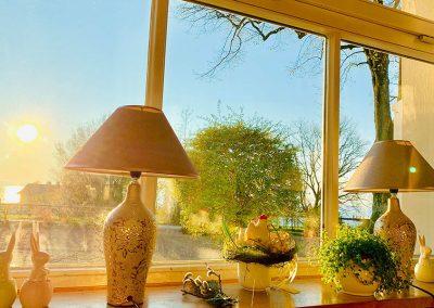 Foto nach draußen aus der Gaststube